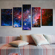 Stretched Canvas Print Art Abstract Galaxy Set of 5