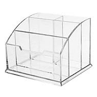 4 slots de suporte da pena de plástico transparente