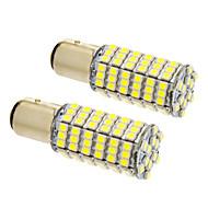 bay15d / 1157 8W 120x3020smd 660lm 5500-6500k køligt hvidt lys LED pære til bil (12V, 2stk)