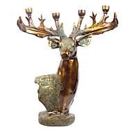 "24 ""retro stílusú Deer típusú Polyresin Négy tartók Gyertyatartó"
