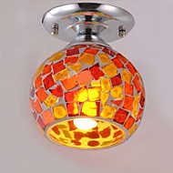 Max 60W Flush Mount ,  Country Electroplated Feature for LED Metal Bedroom / Dining Room / Kitchen