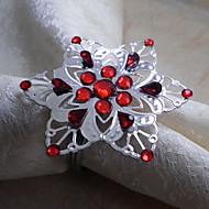 Snowflake מפיות טבעת, אקריליק
