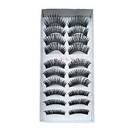 10 Pairs European Fiber EyeLash Black False Eyelashes