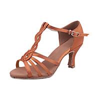 Customized Latin/Salsa Dance Shoes Woman's Satin Dance Sandals For Ballroom