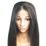 18inch Straight Middle Part brasilianskt Remy hår snör åt Wig