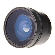 NEW YI 58mm 0.25X Fisheye objektiv s širokým objektivem typu rybí oko pro fotoaparát (černá)
