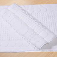 Bath Rug 100% bomull Pure White Geometriske Skriv ut
