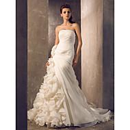 웨딩 드레스 트럼펫/멀메이드 쿼트 트레인 튜브탑 플러스 사이즈