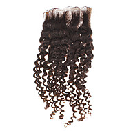 "12"" 100% Human Hair Kinky Curly Natural Black Hair Piece"