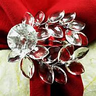 Casamento da folha acrílica Guardanapo Ring Set de 12, Acrílico Dia 4,5 centímetros