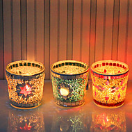 "2.75""H Country Style Beautiful Glass Votive Candle Holder"