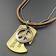 Schmuck Weinlese-Halsketten Alltag / Normal Leder Herren Braun Hochzeitsgeschenke