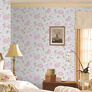 Country Floral Dahlia Non-woven Wall Paper
