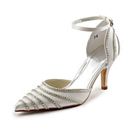 Women's Wedding Shoes D'Orsay & Two-Piece Heels Wedding/Party & Evening Black/Blue/Pink/Purple/Red/Ivory/White/Silver/Gold/Champagne
