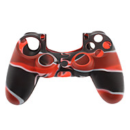 Pele de silicone para PS4 Controller (Black & Red)
