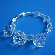 Crystal Rose Rond de Serviette Set de 6, acrylique Dia 4.5cm