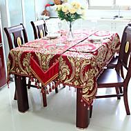 "Jacquard floral linge de table, Velvet 40 ""* 40"""