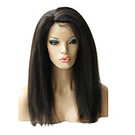"16"" Brazilian Kinky Straight Front Lace Human Hair Wig"