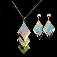 European Gold Alloy (Earrings&Necklaces) Gemstone Jewelry Sets