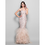 TS Couture Formal Evening / Prom / Military Ball Dress - Champagne Plus Sizes / Petite Trumpet/Mermaid Sweetheart Floor-lengthLace / Tulle /