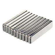 20 x 5 x 2 milímetro NdFeB ímãs poderosos - prata (10 PCS)