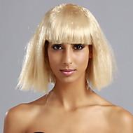 Full Bangs Corn-leimautumista tyyliin lyhyt hiukset peruukki (Light Golden Brown)