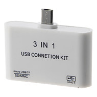 OTG 3-in-1 Smart Card Reader Connection Kit (White)