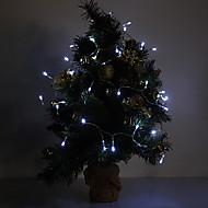 4M 3W 40-LED 210LM White Light luz de tira conduzida para Decorações de Natal