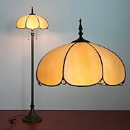 Lotus Design Floor Lamp, 2 ljus, Tiffany Resin glasmålning Process