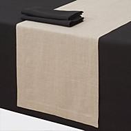 Beige Lin Rectangulaire Chemins de table