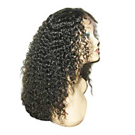 "16 ""100% Virgin brasilianske Kinky Curly Lace Front parykker"