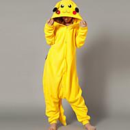 Kigurumi pigiama Pika Pika Calzamaglia/Pigiama intero Halloween Sleepwear Animal Giallo Collage Pile Kigurumi UnisexHalloween / Natale /