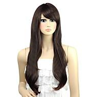 Femme ondulés Belle Côté long Bang perruques synthétiques 3 Couleurs disponibles