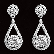 Damen Ohrring Platinum Kubikzirkonia Drop Earrings