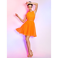 TS Couture® Cocktail Party / Holiday Dress - Orange Plus Sizes / Petite A-line Jewel Short/Mini Chiffon