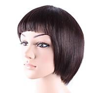 Capless courte Bob cheveux humains de qualité Dark Brown perruque de cheveux Straight