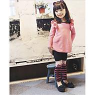 Mädchen Kleidungs Set einfarbig Baumwollmischung Winter