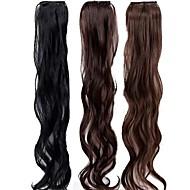 19 קליפ אינץ בתוספות שיער סינטטי חתיכות שיער 3 צבעים זמינים