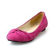 damesko rund tå flad hæl lejligheder sko flere farver