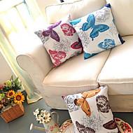 Country Style Färgglada fjärilar Dekorativa Kudde med insats