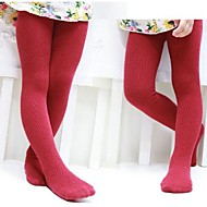Children V Shaped Wavy Grain Cotton Tights Girls