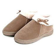 Casual Solid Beige Wool Naisten Slide Slipper