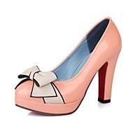 Patent Leather Women's Chunky Heel Platform Pumps / hakken met strik schoenen (meer kleuren)