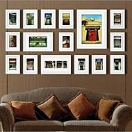Hvid Farve Photo Wall Frame Collection Set af 16