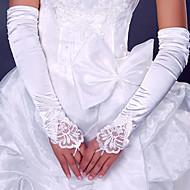 Opera Length Fingerless Glove Elastic Satin Bridal Gloves/Party/ Evening Gloves