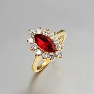 Ladies'/Women's Gold Ring Rhinestone/Cubic Zirconia Gold