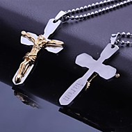 Personalized Gift  Stainless Steel Jesus Bibles Cross Shaped  Engraved Pendant Necklace with 60cm Chain