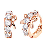 Sweet Gold Or Silver Plated With Cubic Zirconia Bowknot Women's Earrings(More Colors)