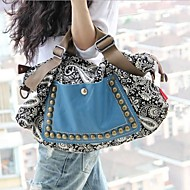 Lady Fashion Bohemia Style Canvas Rivet Tote