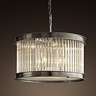 Crystal Pendant Lights , Vintage Living Room/Dining Room/Bedroom Metal